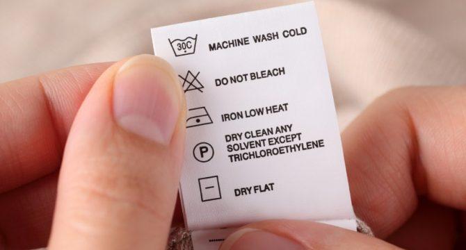 Cómo leer etiquetas de cuidado de la ropa |Ciclón
